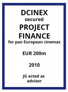 Tombstone-EVS-DCinex-ProjectFinance-2009